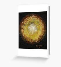 A solar journey ...Un Voyage Solare... In English et en Français Greeting Card