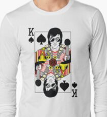 Elvis Presley Vegas Style Playing Card Long Sleeve T-Shirt