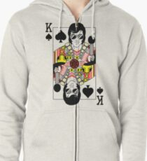 Elvis Presley Vegas Style Playing Card Zipped Hoodie