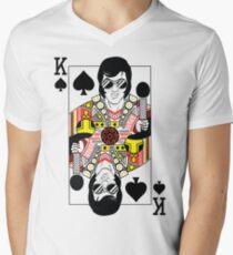 Elvis Presley Vegas Style Playing Card Men's V-Neck T-Shirt