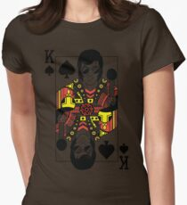 Elvis Presley Vegas Style Playing Card Womens Fitted T-Shirt