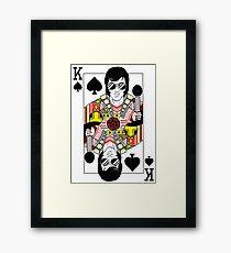 Elvis Presley Vegas Style Playing Card Framed Print