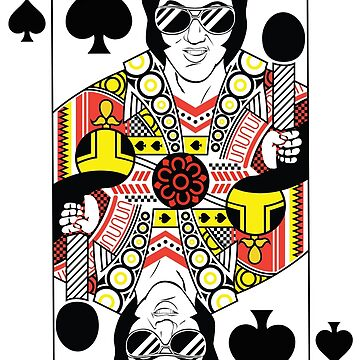 Elvis Presley Vegas Style Playing Card by Feelmeflow