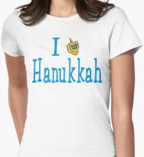 I Love Hanukkah Hanukkah T-Shirt Womens Fitted T-Shirt