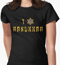 """Hanukkah """"I Love Hanukkah"""" T-Shirt Womens Fitted T-Shirt"""