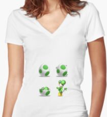 Yoshi! Women's Fitted V-Neck T-Shirt