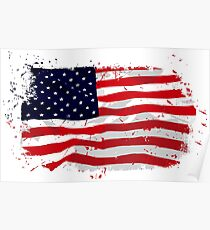 USA Flag - Vintage Look Poster