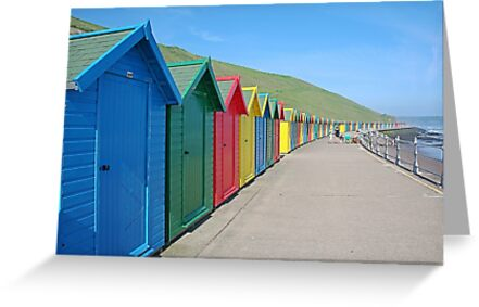 Beach houses, Whitby by Funkylikeabee