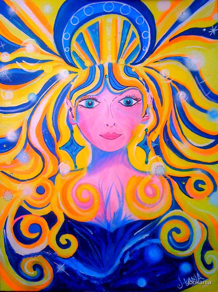 ORIGINAL PAINTING - Unveiling of the Goddess - Visionary Pagan & Spirit Art by jonkania