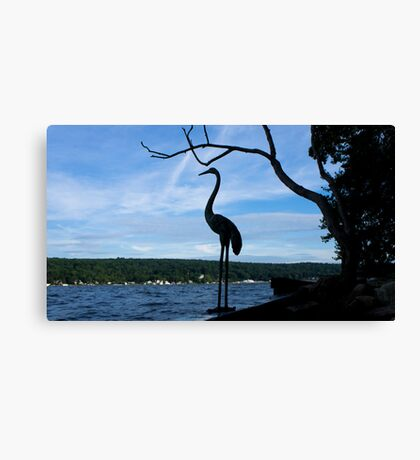Echo Island Heron Canvas Print