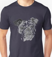 Portrait Of An American Bulldog In Black and White  Unisex T-Shirt