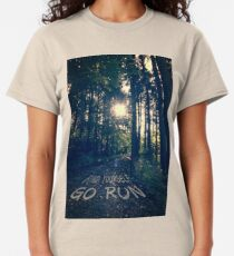 Find Yourself Go Run No. 6 - Forest with Sun Flare Classic T-Shirt