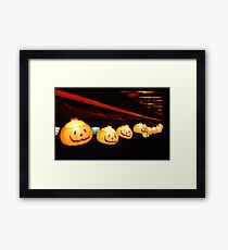 Jack O' Lanterns Framed Print