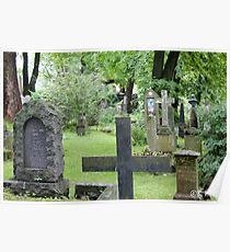 Cemetery in Trondheim outside of the Nidaros Cathedral Poster