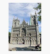 Nidaros Cathedral in Trondheim Norway Photographic Print