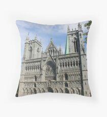 Nidaros Cathedral in Trondheim Norway Throw Pillow