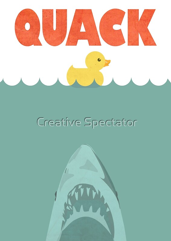 Quot Jaws Rubber Duck Quack Quot Posters By Creative Spectator