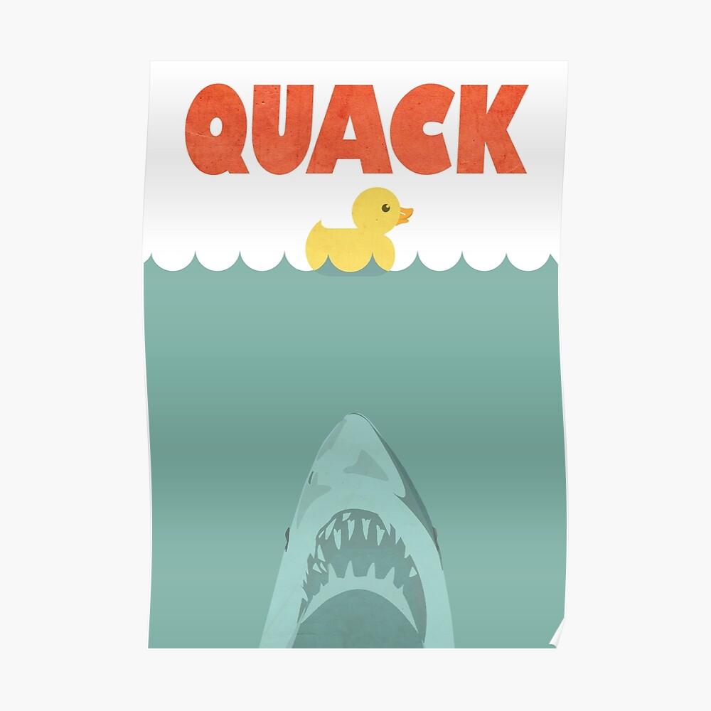 Jaws Gummiente 'Quack' Poster
