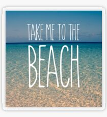 Take Me to the Beach Ocean Summer Blue Sky Sand Transparent Sticker
