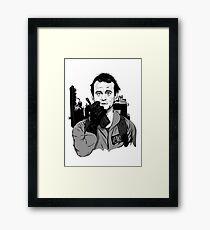 Ghostbusters Peter Venkman Bill Murray illustration Framed Print