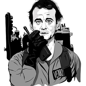 Ghostbusters Peter Venkman Bill Murray illustration by Feelmeflow
