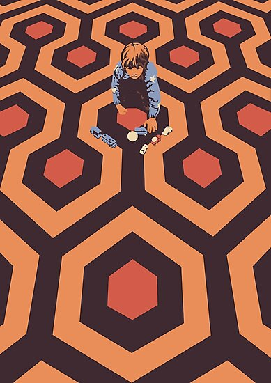 The Shining Screen Print Movie Poster  by Creative Spectator