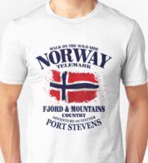 Norway Flag - Vintage Look Unisex T-Shirt