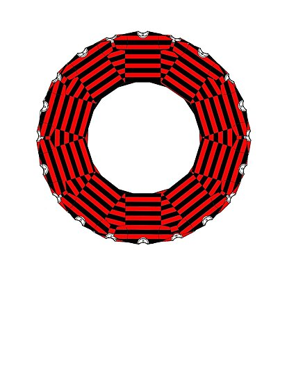 ring-o-t-shirts black and red by IanByfordArt