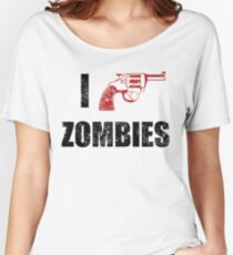 I Shotgun Zombies/ I Heart Zombies  Women's Relaxed Fit T-Shirt