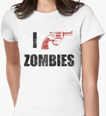 I Shotgun Zombies/ I Heart Zombies  Women's Fitted T-Shirt