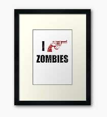 I Shotgun Zombies/ I Heart Zombies  Framed Print