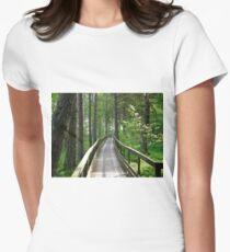 This way, please... Women's Fitted T-Shirt
