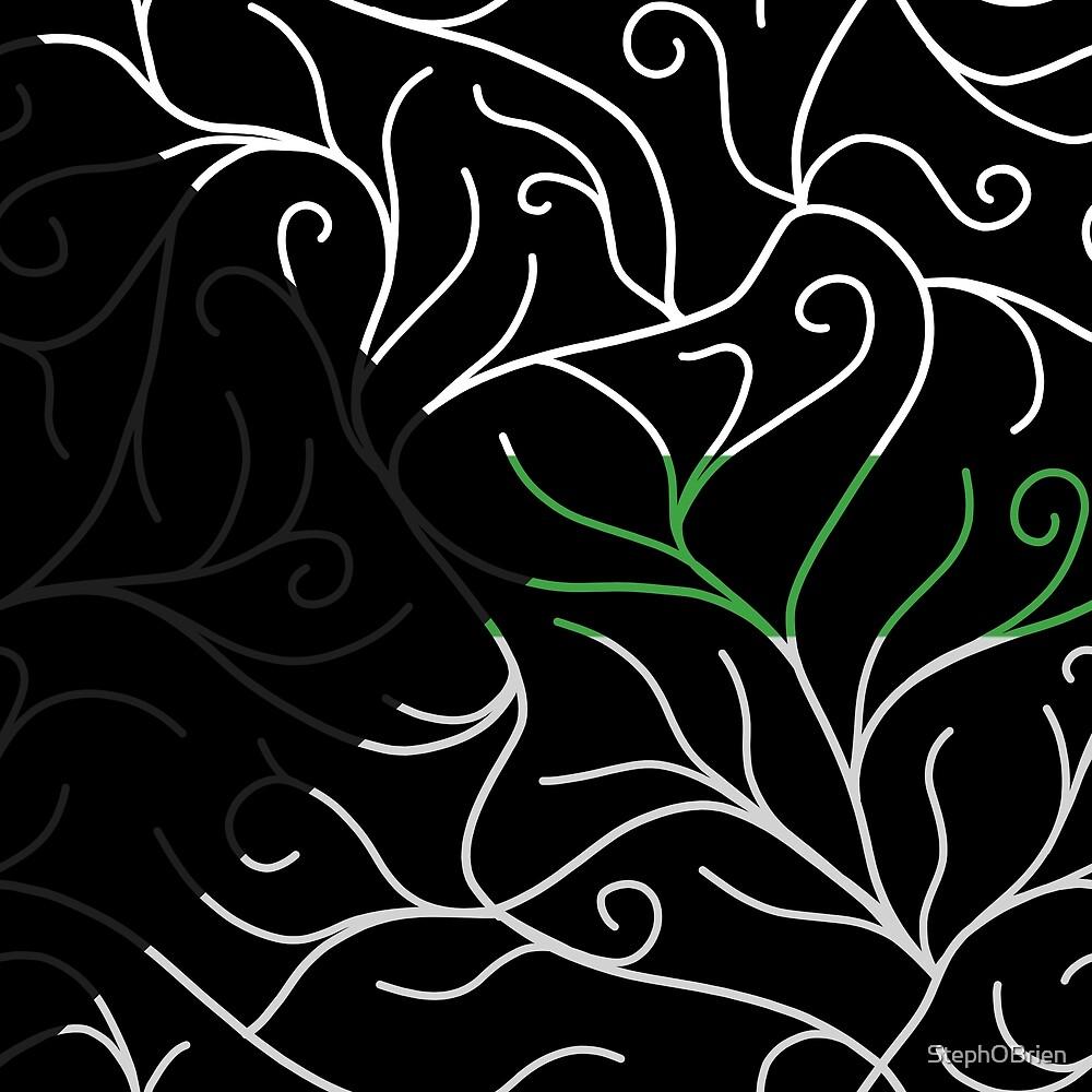 Black Velvet, Demiromantic Flag Vines by StephOBrien