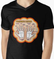 The player's hands. Mens V-Neck T-Shirt