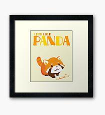 LITTLE RED PANDA Framed Print