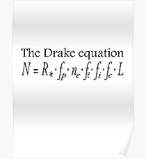 Aliens, The Drake equation, SETI, Alien, search for extraterrestrial life, Contact, Is there anyone there? Poster