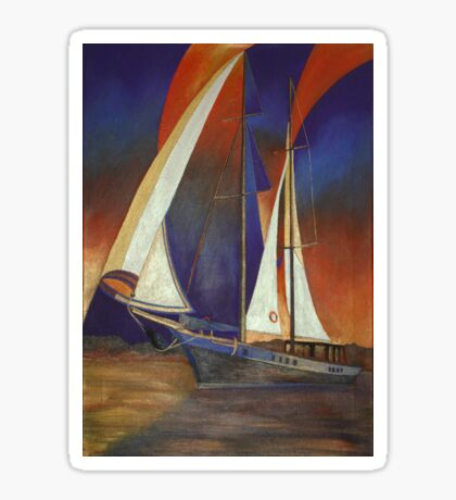 Gulet Under Sail Sticker