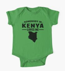 Somebody In Kenya Loves Me One Piece - Short Sleeve