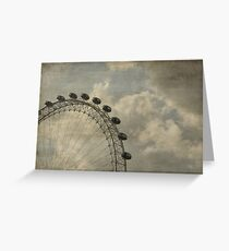 London Eye Scripted Greeting Card