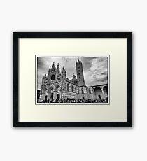 Duomo di Siena in black and white Framed Print