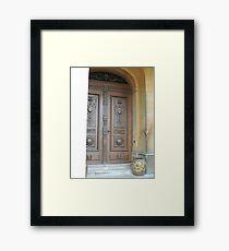 Waddesdon Door Framed Print