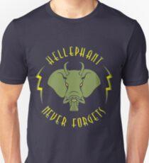 Hellephant - Maulive Green on Dark Blue T-Shirt