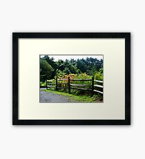 Country Fence.. Framed Print