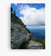 Turn left at the end of the cliff - Mt. Mansfield, VT Canvas Print