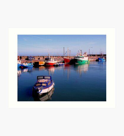 Balbriggan Harbour Art Print