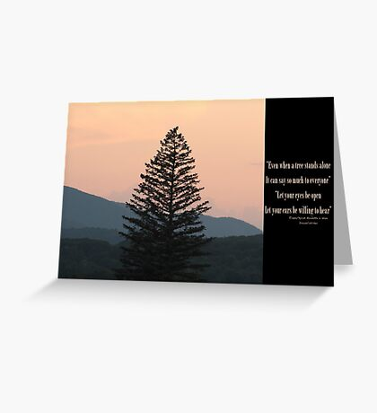 Stands alone Greeting Card