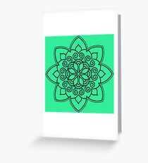 Simple Swirl Mandala Greeting Card