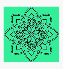 Simple Swirl Mandala Photographic Print