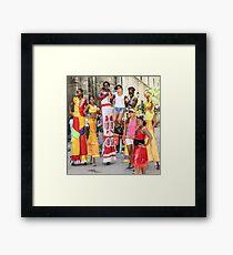 Stilt walkers. Framed Print