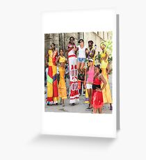 Stilt walkers. Greeting Card